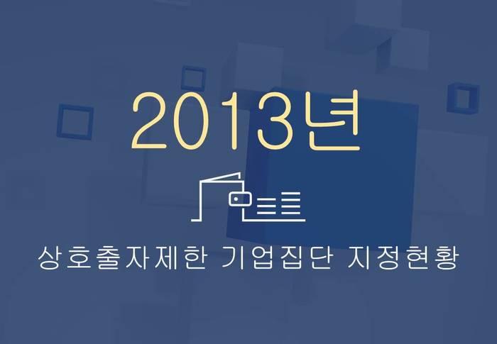 2013년 상호출자제한 기업집단 지정 현황