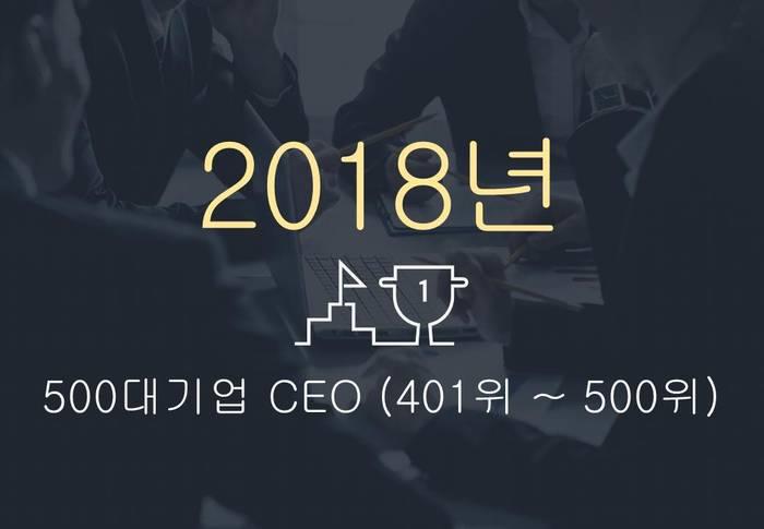 2018년 500대기업 대표이사 (401위 ~ 500위)