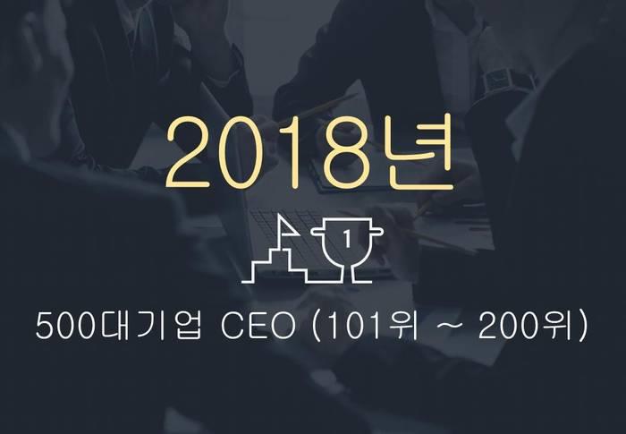 2018년 500대기업 대표이사 (101위 ~ 200위)