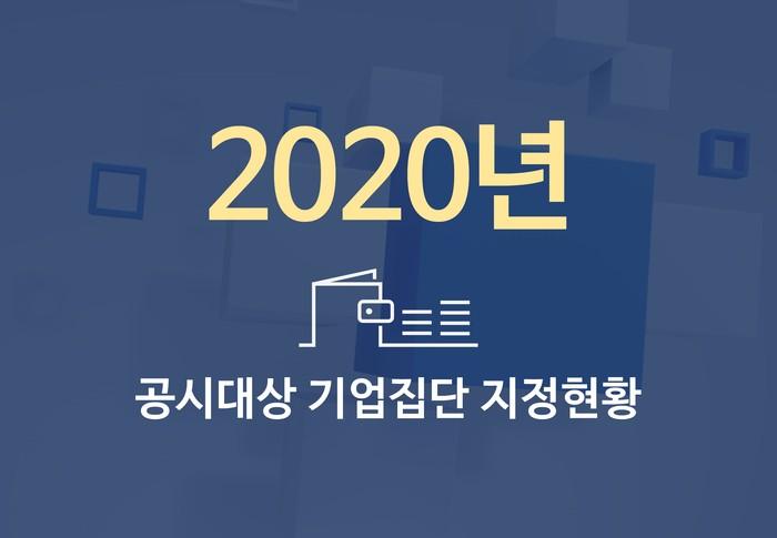 2020년도 대기업집단 지정 현황