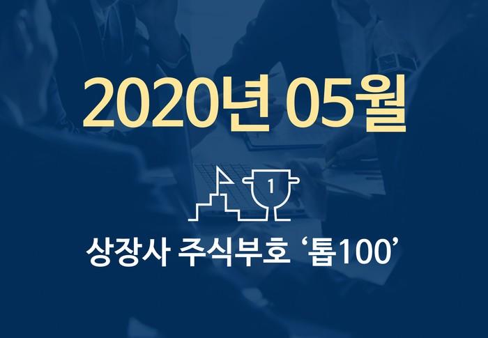 상장사 주식부호 '톱 100' (2020년 05월 04일 기준)