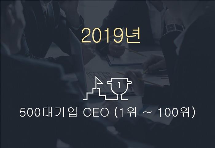 2019년 500대기업 대표이사 (1위~100위)
