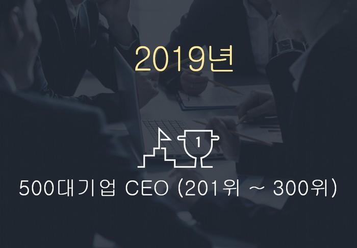 2019년 500대기업 대표이사 (201위~300위)