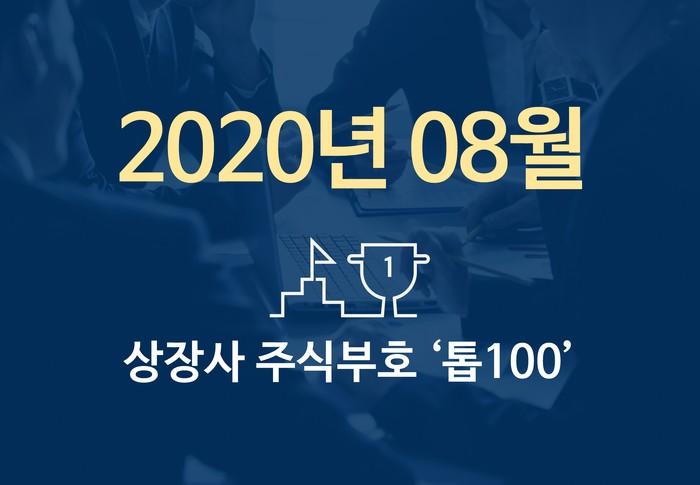 상장사 주식부호 '톱 100' (2020년 08월 03일 기준)