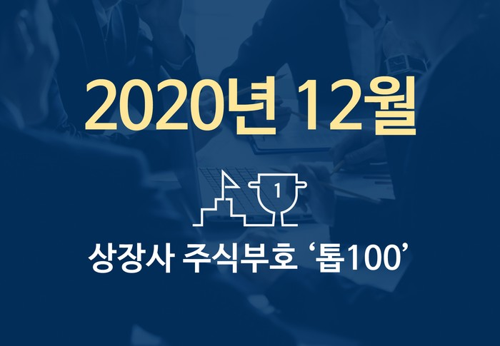 상장사 주식부호 '톱 100' (2020년 12월 01일 기준)