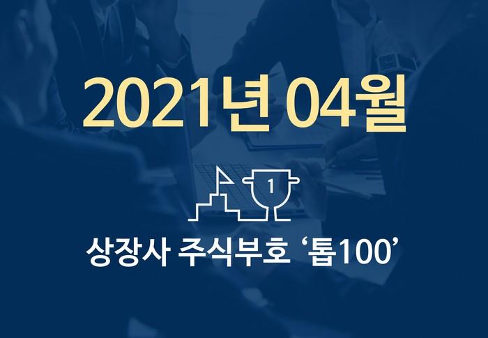 상장사 주식부호 '톱 100' (2021년 04월 01일 기준)