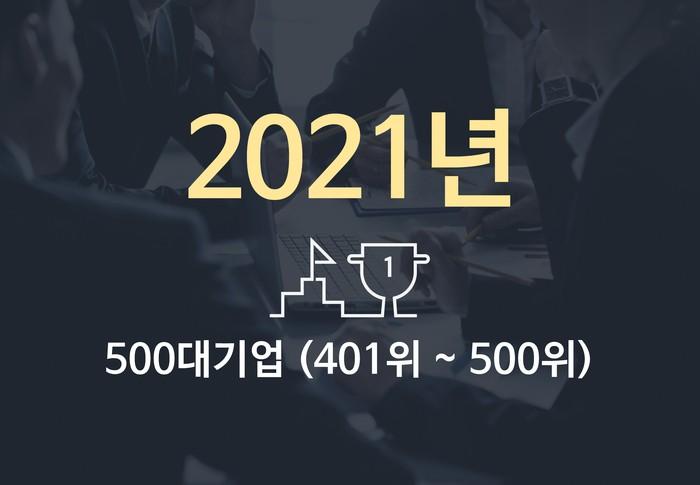 2021년 500대 기업(401위~500위)