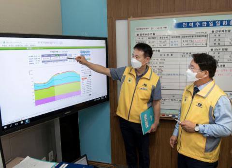 이승우 남부발전 사장,폭염 속 전력수급 점검