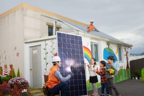 한화큐셀, 허리케인 피해 콜롬비아에 '태양광 모듈' 기부