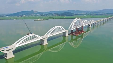 DL이앤씨, 국내 최대 규모 철도 아치교량 완공