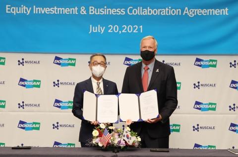 두산중공업, 美뉴스케일파워에 추가 투자…SMR 사업협력 강화