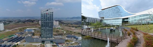 (왼쪽부터)한국전력 본사, 한국가스공사 본사 전경