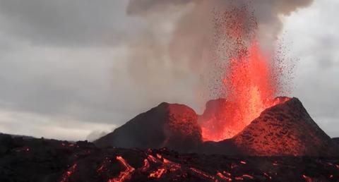 한화테크윈, 아이슬란드 레이캬비크 화산 분출 생중계 서비스