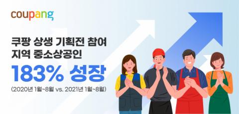 쿠팡, '상생 기획전' 참여 소상공인 매출 183% '껑충'