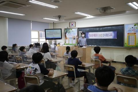 포스코건설, 해양경찰청·인천시교육청과 초중등 수업용 교안 제작