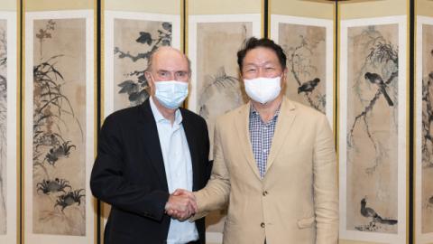최태원 SK 회장, 美 그린에너지 기업 CEO 연쇄 회동