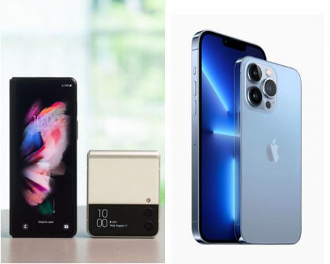 아이폰·갤럭시 효과 '톡톡'…삼성D, 프리미엄 OLED 출하량 '껑충'